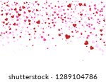 heart confetti falling down... | Shutterstock .eps vector #1289104786