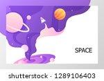template start web page.... | Shutterstock .eps vector #1289106403
