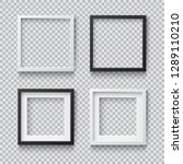 photo realistic square white... | Shutterstock .eps vector #1289110210