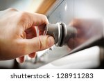 using the oven  oven... | Shutterstock . vector #128911283