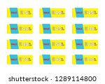 set of colorful sale icon...   Shutterstock .eps vector #1289114800