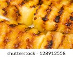 Grilled Pineapple - BBQ favourite sweet side dish and treat! - stock photo