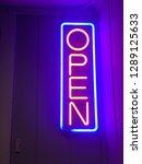 neon open sign | Shutterstock . vector #1289125633