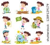 vector illustration of cartoon... | Shutterstock .eps vector #1289129179