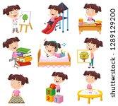 vector illustration of cartoon... | Shutterstock .eps vector #1289129200