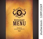 restaurant menu design | Shutterstock .eps vector #128913269