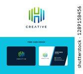 letter h logo design  letter h... | Shutterstock .eps vector #1289158456