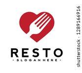 fork logo vector inspiration | Shutterstock .eps vector #1289166916