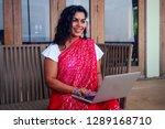indian beautiful businesswoman... | Shutterstock . vector #1289168710