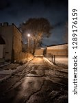 scary chicago city alley street ... | Shutterstock . vector #1289176159