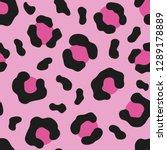 pink leopard seamless pattern.... | Shutterstock .eps vector #1289178889