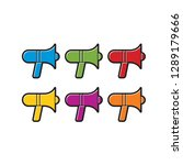 megaphone icon color variations ... | Shutterstock .eps vector #1289179666