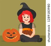 disguised as a witch | Shutterstock .eps vector #1289183980