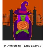 disguised as a witch | Shutterstock .eps vector #1289183983