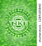 ankle realistic green emblem.... | Shutterstock .eps vector #1289185840