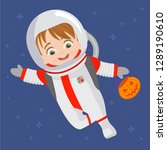disguised as an astronaut | Shutterstock .eps vector #1289190610