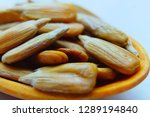 peeled sunflower seed in a... | Shutterstock . vector #1289194840