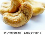 roasted cashew nuts  a salted... | Shutterstock . vector #1289194846