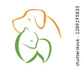 vector of a dog and cat design... | Shutterstock .eps vector #1289195833