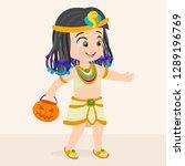 girl in cleopatra costume | Shutterstock .eps vector #1289196769