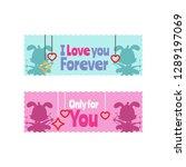 valentine sticker collection    Shutterstock .eps vector #1289197069