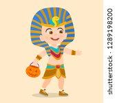child with pharaoh costume | Shutterstock .eps vector #1289198200