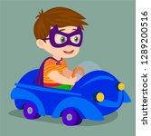 child driving a car | Shutterstock .eps vector #1289200516