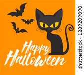 cat playing with bats | Shutterstock .eps vector #1289209090