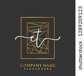 et initial handwriting logo... | Shutterstock .eps vector #1289209123
