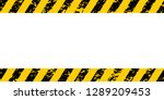warning frame yellow and black... | Shutterstock .eps vector #1289209453