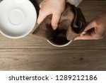 close up woman hand cleaning... | Shutterstock . vector #1289212186