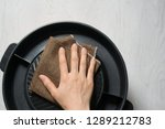 close up housewife hand... | Shutterstock . vector #1289212783