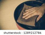 close up housewife hand... | Shutterstock . vector #1289212786