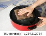 close up housewife hand... | Shutterstock . vector #1289212789
