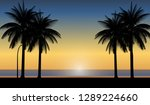 sunset vector with beautiful... | Shutterstock .eps vector #1289224660