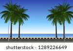 vector walking by the sea | Shutterstock .eps vector #1289226649
