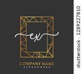 ex initial handwriting logo... | Shutterstock .eps vector #1289227810