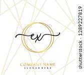 ex initial handwriting logo... | Shutterstock .eps vector #1289227819