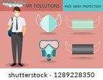 vector of young man wearing... | Shutterstock .eps vector #1289228350