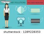 vector of young girl wearing... | Shutterstock .eps vector #1289228353