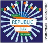 happy republic day | Shutterstock .eps vector #1289228980