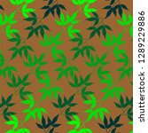 bamboo leaves pattern concept... | Shutterstock .eps vector #1289229886
