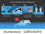 escape submerged car sinking... | Shutterstock .eps vector #1289230393