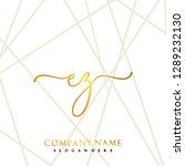 ez initial handwriting logo... | Shutterstock .eps vector #1289232130