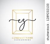 ez initial handwriting logo... | Shutterstock .eps vector #1289232133