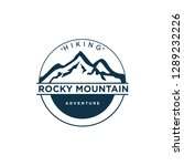 vintage emblem badge mountain... | Shutterstock .eps vector #1289232226