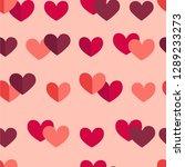 vector flat st.valentine s day... | Shutterstock .eps vector #1289233273