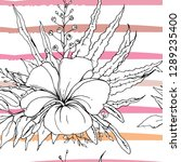 tropical  modern stripes motif. ...   Shutterstock .eps vector #1289235400