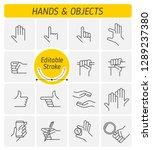 the various gestures of human... | Shutterstock .eps vector #1289237380