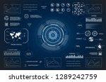 hud interface or technology... | Shutterstock .eps vector #1289242759